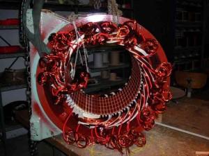 Rebobinage stator moteur électrique